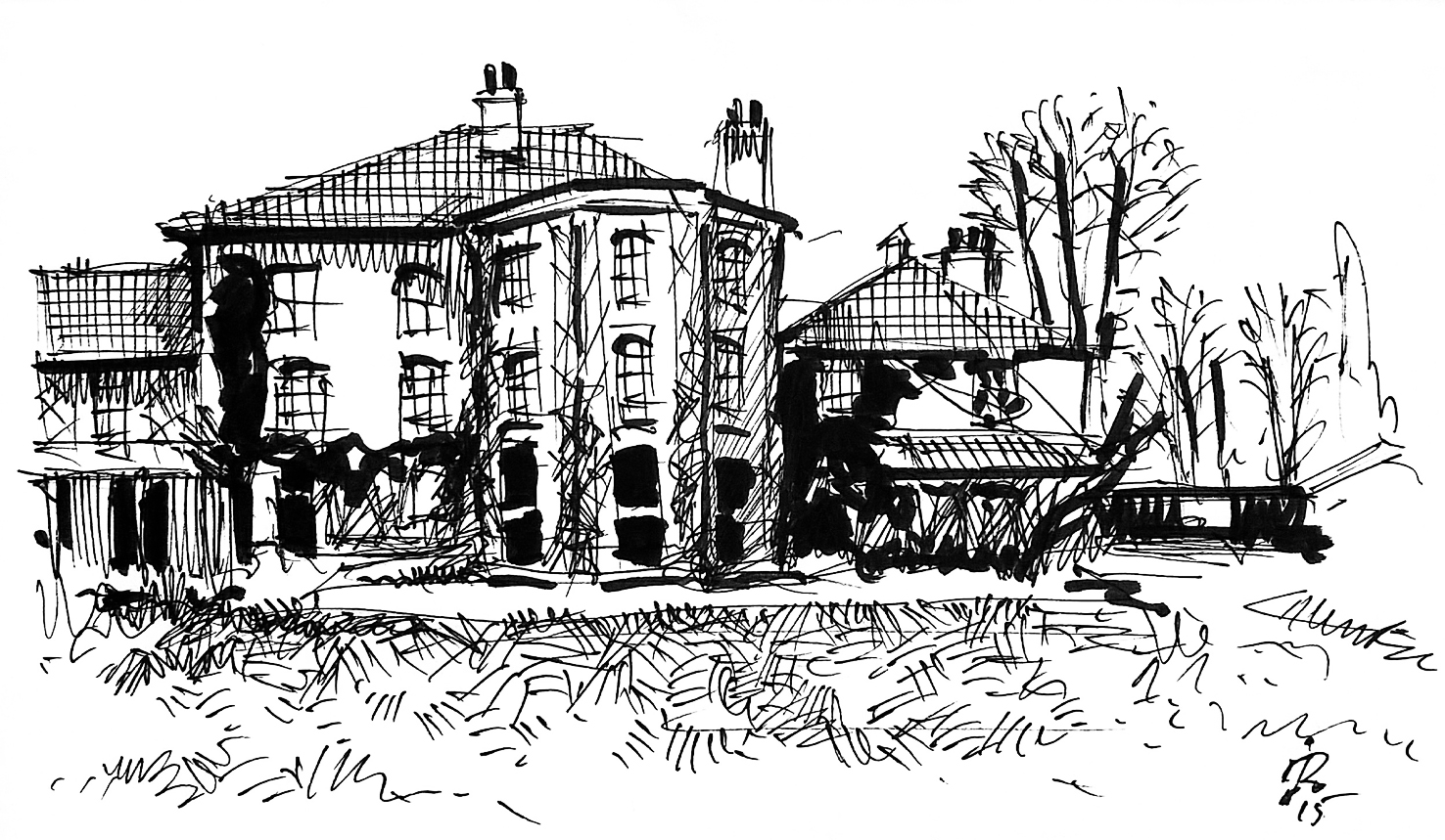 Downe House drawing