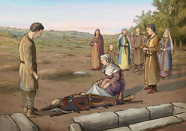 escena enterram visigodo