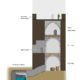 sección torre homenaje