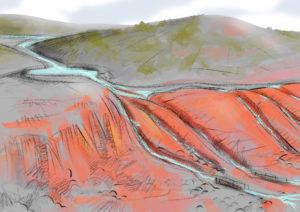 escena canales mineros