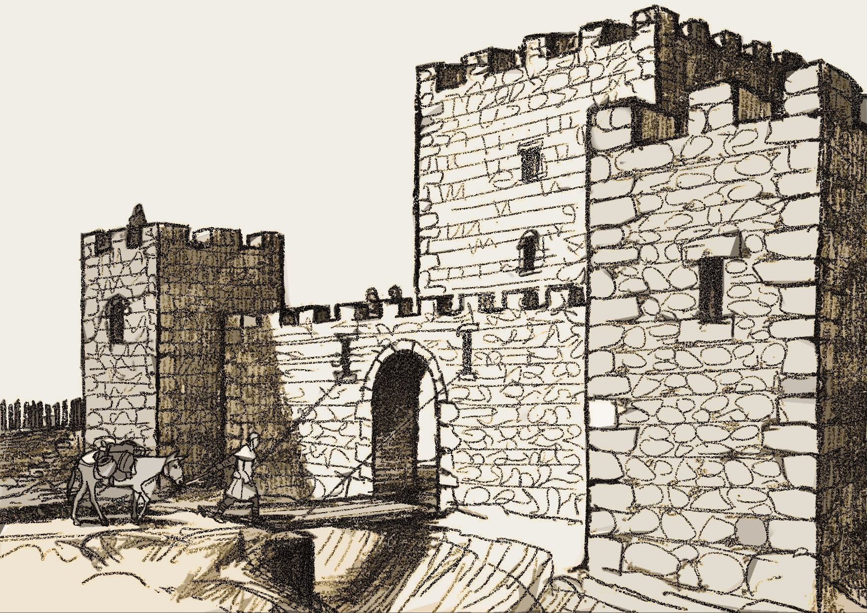 dibujo castillo Peña Amaya