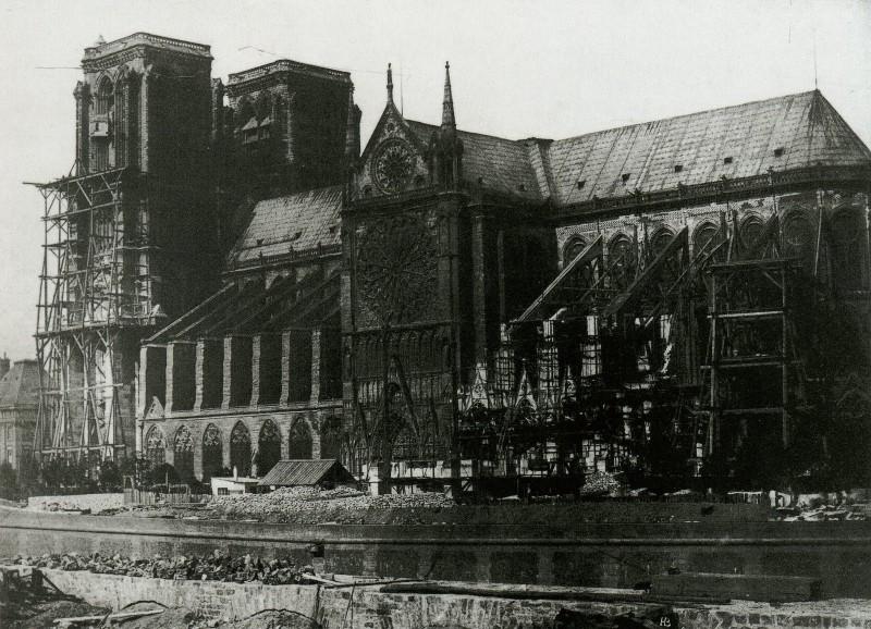 Notre-Dame-1847-Durant-la-restauration
