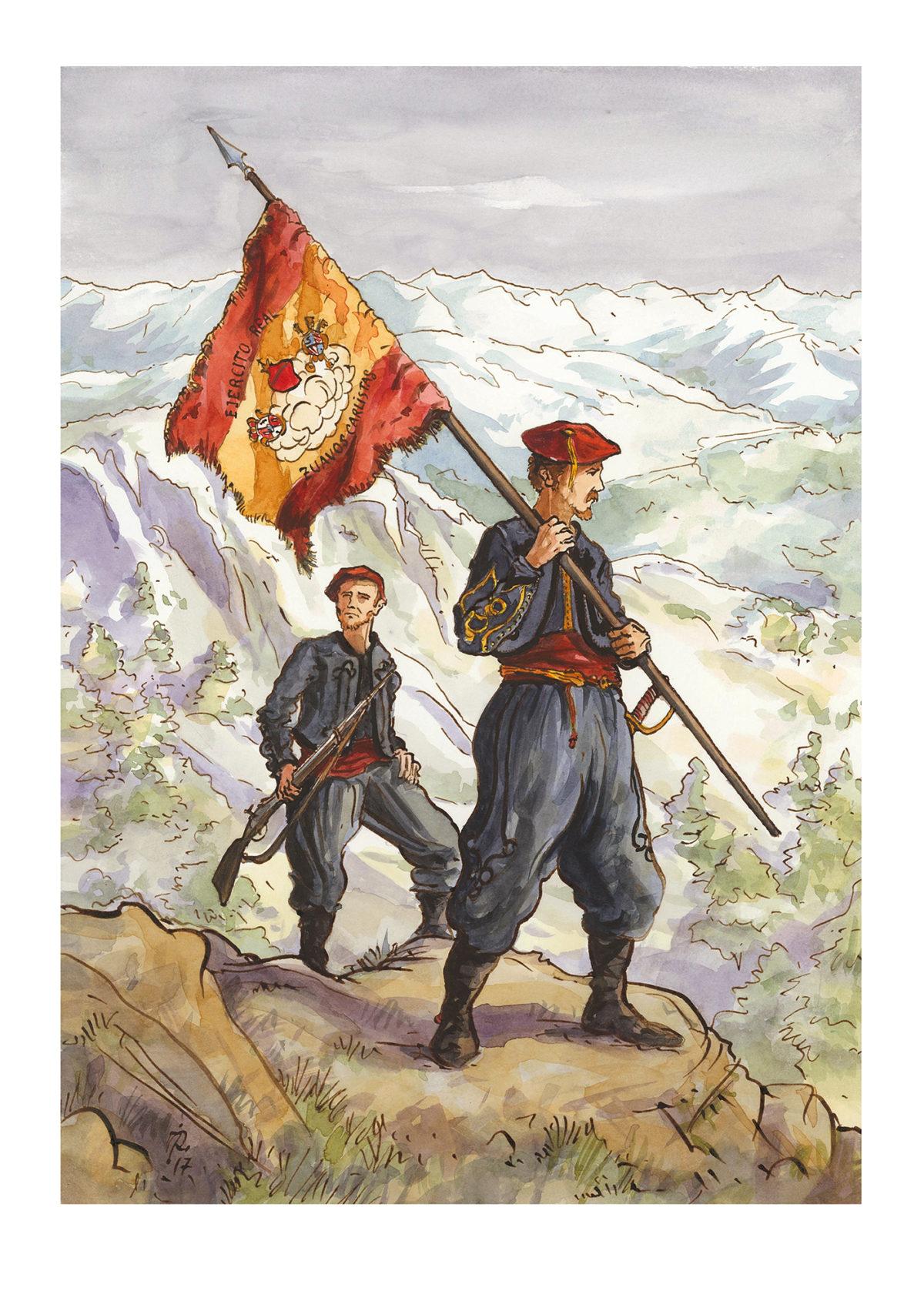Wils y el Batallón de Zuavos Carlistas