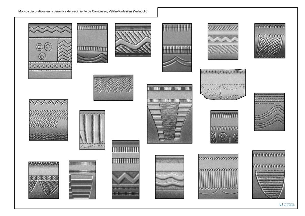 Motivos decorativos en las cerámicas del yacimiento de Carricastro