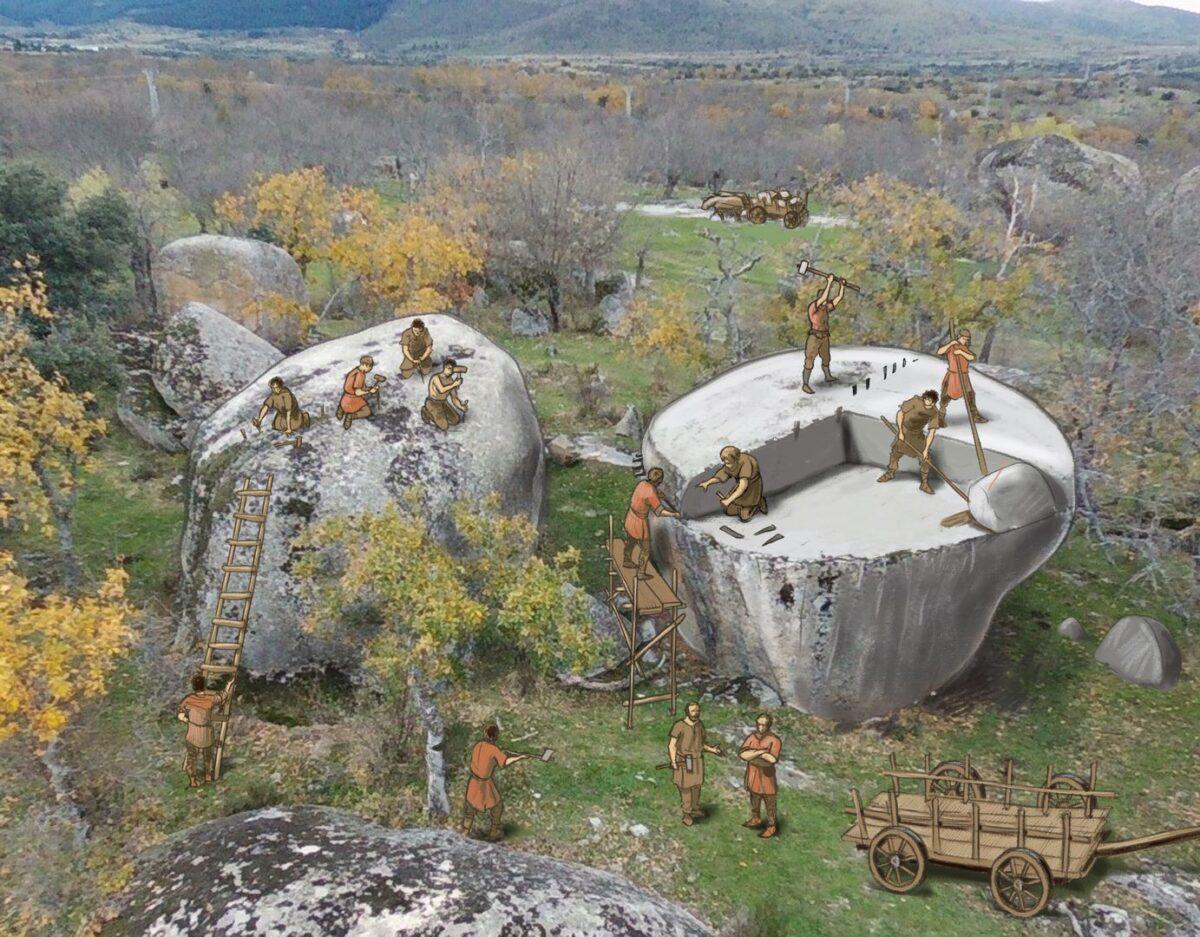Canteras históricas en el berrocal segoviano