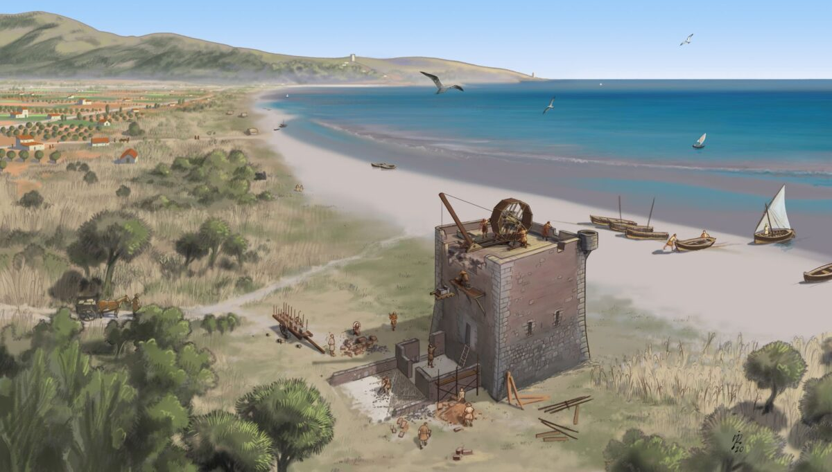 Torres defensivas en la costa de Valencia